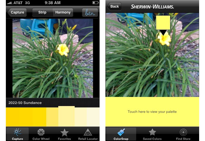 Paint Manufacturers Launch Color Capturing Iphone Apps