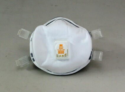 Workers who are not willing, or able, to get professionally fitted and trained should consider a high-quality disposable respirator such as this N100.