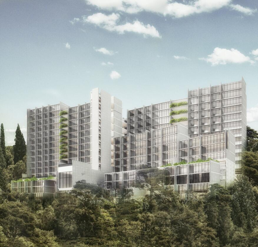 A rendering of Arboleda, an 86-unit condo building that the studio recently won a competition to design.