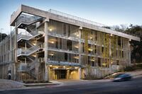 Concrete Parking Structure adds Beauty to the Hills