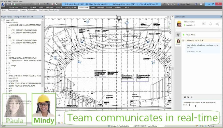 The cloud-based service also enables real-time collaboration in Revit.