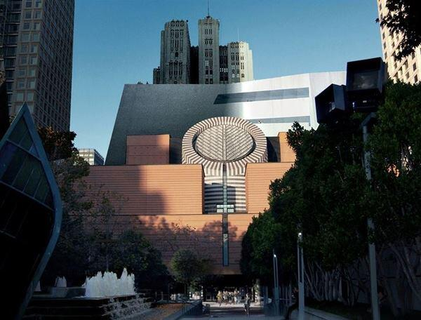 November 2011 rendering showing the addition from the west, with the existing Mario Botta-designed museum building in the foreground.