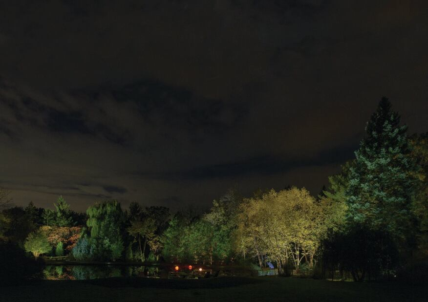 The Group 2 team wanted to create a lighting scheme for their pond area site that would convey the sense of a moonlight night as well as take advantage of the reflections that lighting would make in the water.