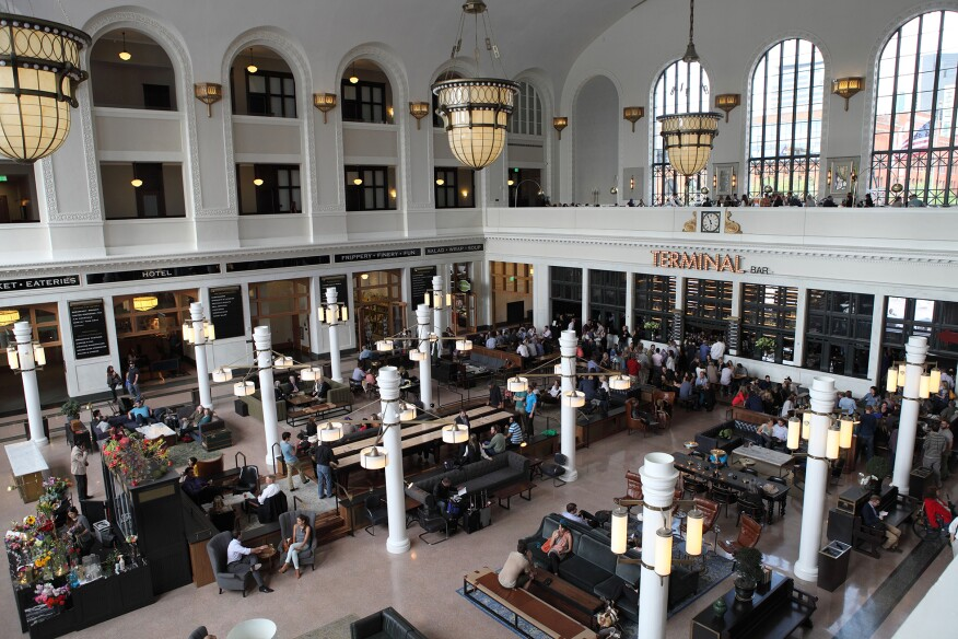 The central hall of the restored Union Station