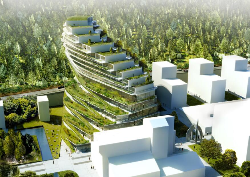Proposed Green School Stockholm by 3XN
