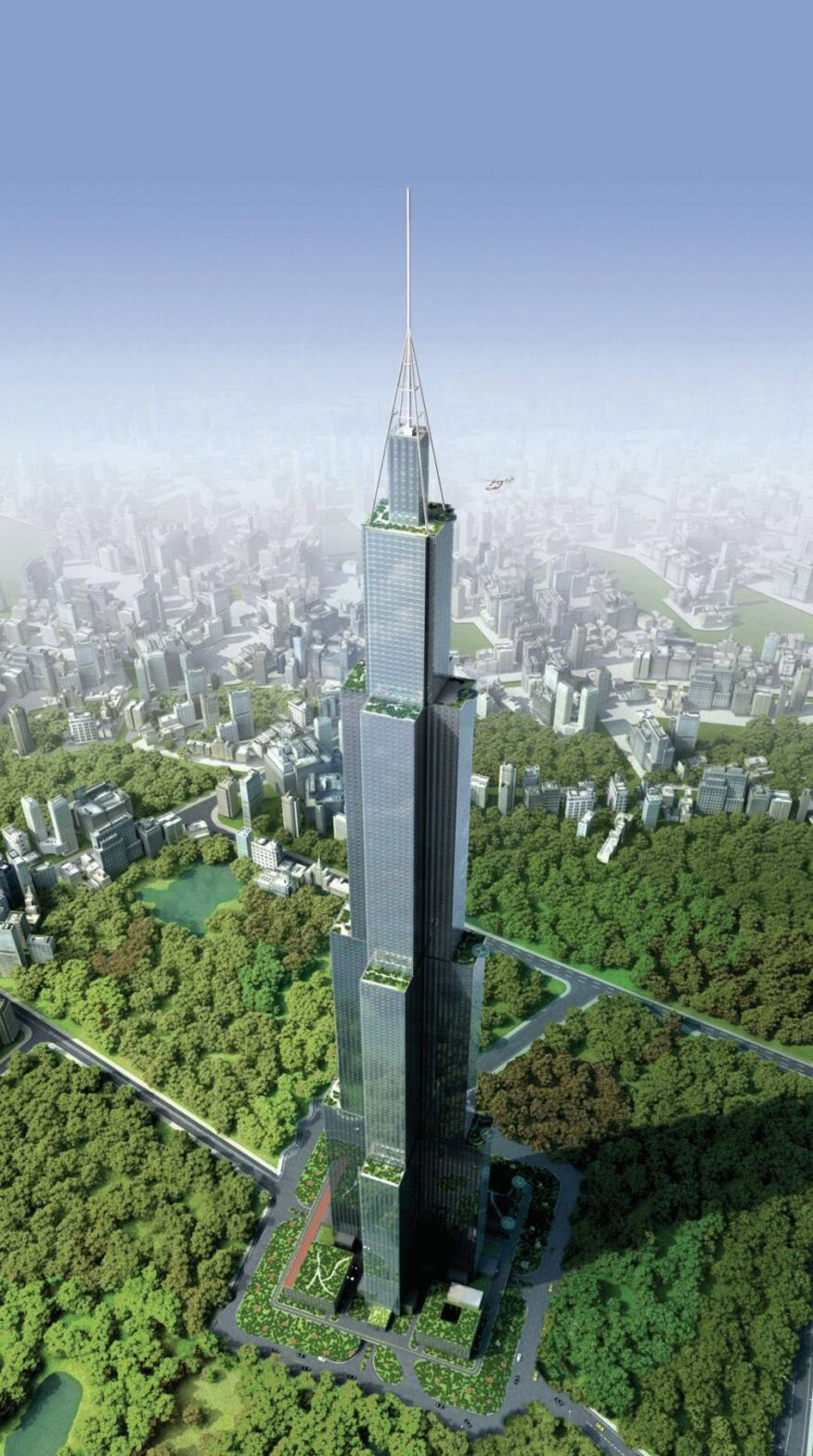 A rendering of Sky City in Changsha, China.