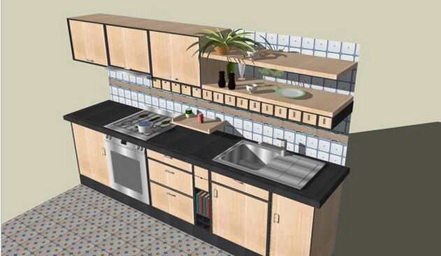 3D Warehouse kitchen
