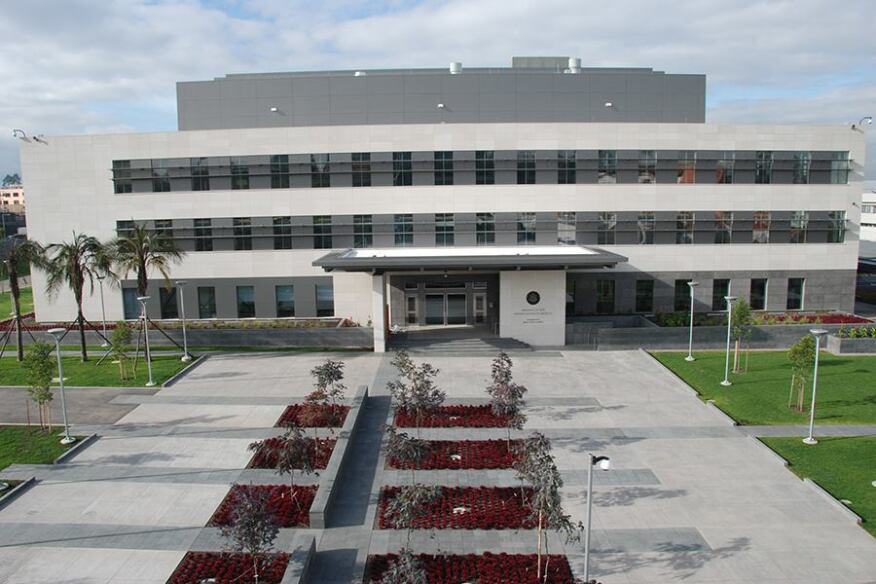 The U.S. Embassy in Quito, Ecuador, which was built under the standardized template.