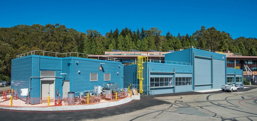 Construction of LBNL's exterior testing facility, which contains four of FLEXLAB's seven testbeds.