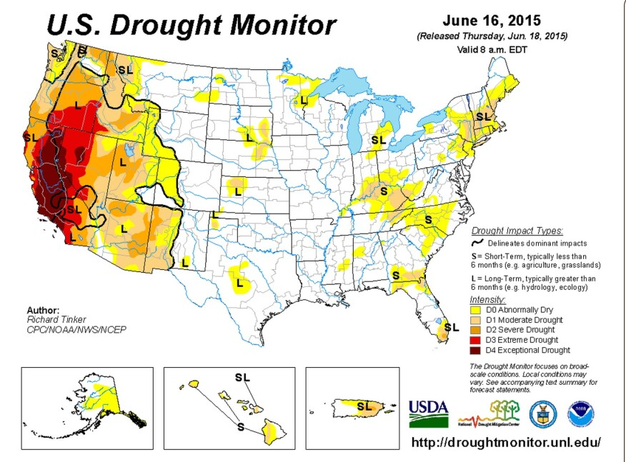 U.S. Drought Monitor, the National Drought Mitigation Center