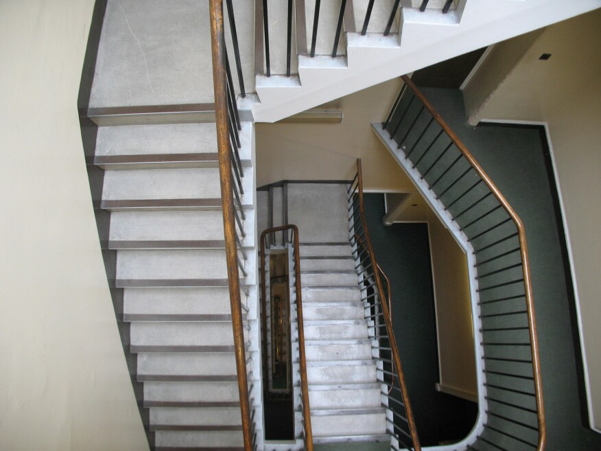 Existing staircase and stairwell