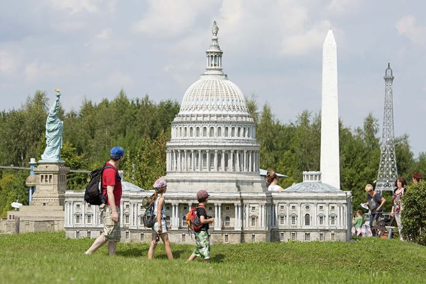The Miniwelt (Miniworld) park in Lichtenstein, Germany, contains roughly 100 models at 1:25 scale, including one of the U.S. Capitol building in Washington, D.C.