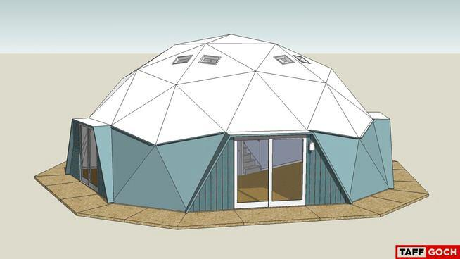 SketchUp rendering of the renovated dome