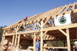 The 42-by-26-foot storage barn was framed with eastern hemlock and white-pine timbers from a local sawmill.