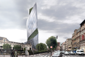 French Garden Tower Does the Twist