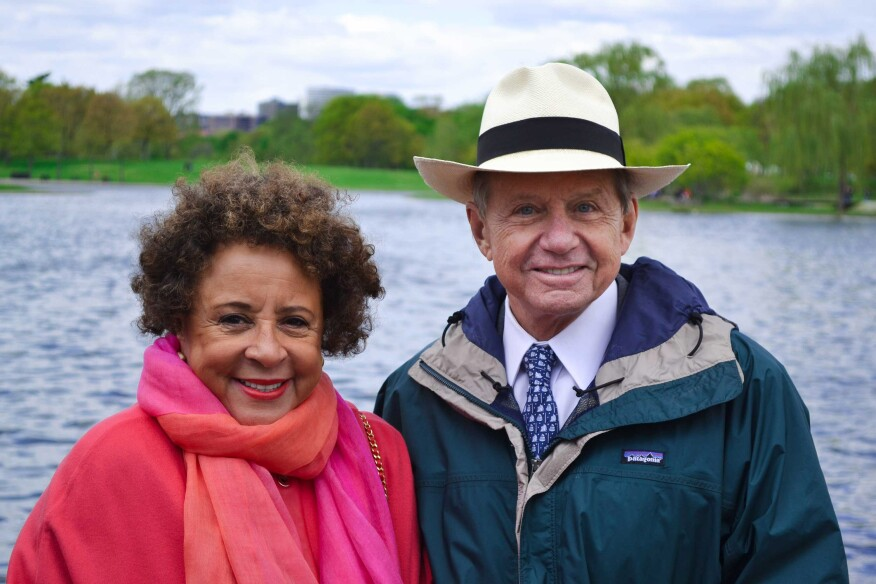 """Keynote speaker Sheila C. Johnson and John E """"Chip"""" Akridge III, chairman and founder of the Trust for the National Mall"""