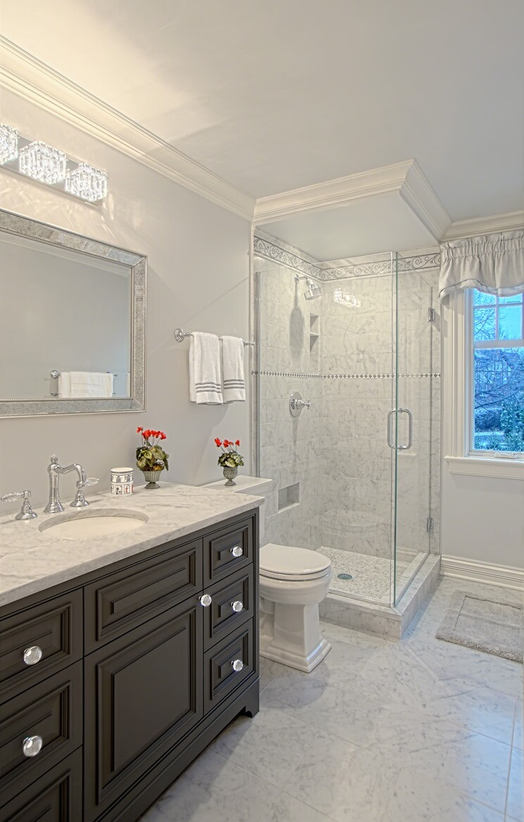 Another frequent renovation spot is the master bath, which clients want to be both functional and luxurious, like this Benvenuti and Stein remodel.