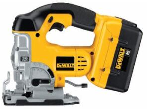 POWER UP: Offering brute strength, this line of heavy-duty 36-volt power tools is sure  to handle any task. The line delivers up to twice the run time and power  of 18-volt tools, the company says. The jigsaw features a 1-inch stroke length  and zero to 2,700 strokes per minute. Keyless blade changes and shoe bevels  and a dust blower come standard. DeWalt. 800-433-9258. www.dewalt.com.
