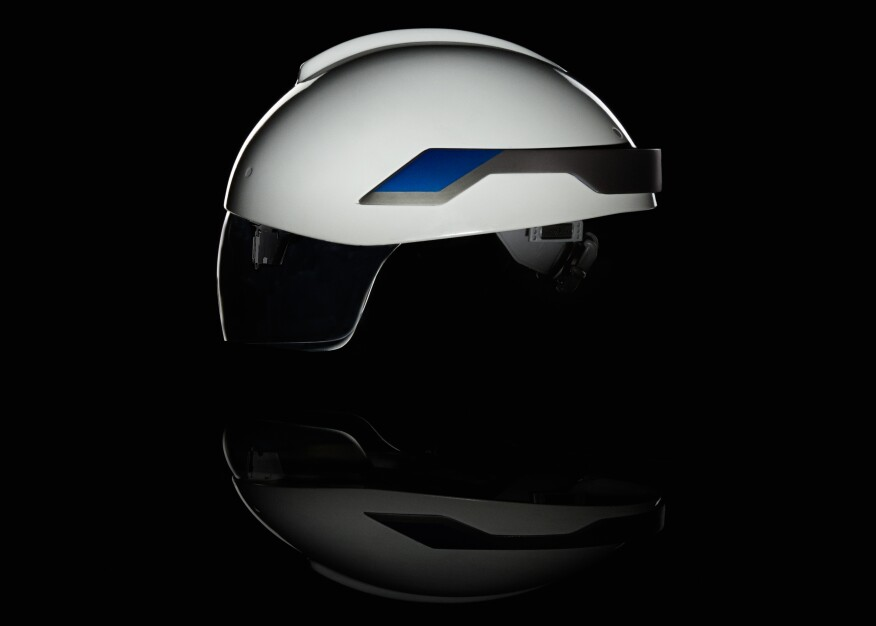 Daqri's Smart Helmet boasts 360 degree navigation cameras, an industrial-grade inertial measurement system, and a high resolution 3D depth camera.