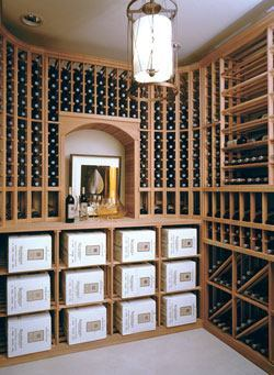 A basement offers the perfect setting for a home wine cellar, providing the stability, climate control, and other critical conditions for optimum storage.