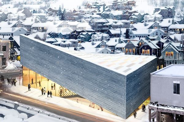 BIG's second proposal for an expansion to the Kimball Art Museum in Park City, Utah, has been rejected for not being compatible enough with Main Street.