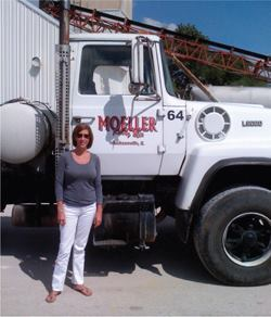 Cheryl Moeller is serving her second term as president of the Illinois Ready Mixed Concrete Association.
