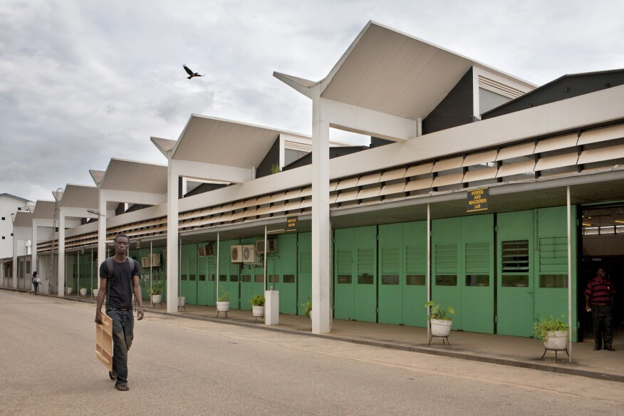 School of Engineering at the Kwame Nkrumah University of Science and Technology (KNUST) (1956) in Kumasi, Ghana, by James Cubitt
