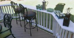 Figure 8. Cap the top of a railing with a PVC board and you have an eye-catching bar top.