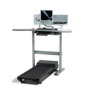AdjusTables    Details, A Steelcase Co.www.details-worktools.com  Combination of electric height-adjustable work surface with a low speed treadmill    Treadmill console displays speed, calories burned, time, and distance and may be visible or stowed    2 mph maximum motor with 0.1 mph speed adjustments    Plugs into a 110-volt outlet on a dedicated 20-amp circuit