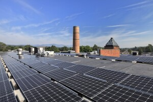 The development team was able to incorporate sustainable features into the historic building, including photovoltaic panels on the roof and state-of-the-art thermal heating and cooling.
