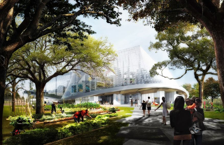 Although designs for the King's Cross campus have not been unveiled, above is a rendering for the Mountain View, Calif., location to get an idea of what it may look like.