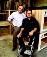 Over a period of 20 years, Doug Croker (standing) and Delbert Adams have built a far-reaching company that focuses on detailed craftsmanship, top-drawer customer service, and a diversified portfolio.