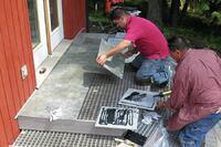 Tiling a Deck