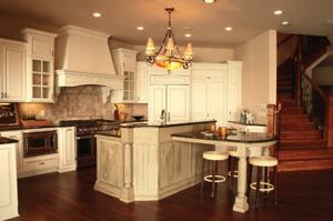 Custom homes focus on the details, as demonstrated by this kitchen area.