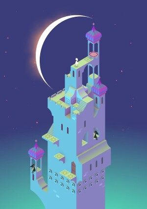 Ken Wong for Ustwo Studio; Moon, Monument Valley game, 2014.
