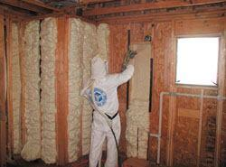 Insulation System light-density foam expands to 100 times its initial volume       in seconds to form a soft, flexible, continuous air barrier, says the maker.       The spray-in-place water-based insulation formulation doesn't contain formaldehyde,       CFCs, HCFCs, or synthetic blowing agents. 800-758-7325. www.icynene.com.