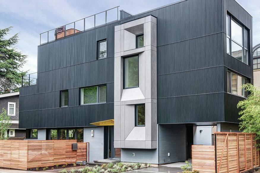 Architect Marie Ljubojevic's careful orientation takes advantage of solar heat gain in the winter and natural ventilation in the summer.