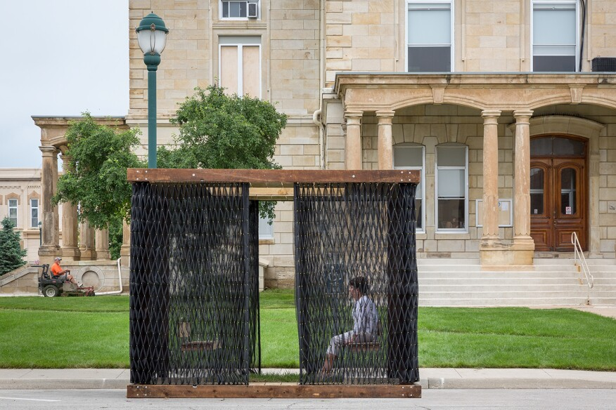 Deployable Smocked Porch, by Substance Architecture