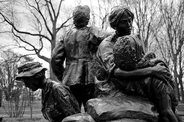 The Vietnam Women's Memorial.