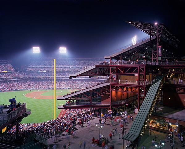 Phillies Stadium, Citizens Bank Park, Philadelphia, by Ewing Cole with Populous, formerly HOK Sport.