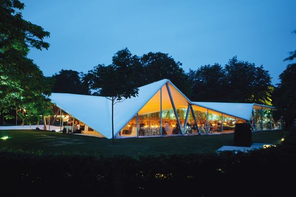 Serpentine Gallery Pavilion 2000, designed by Zaha Hadid