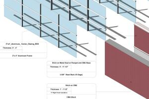 Detail view of the wall types in BSD's Revit 2013 object catalog