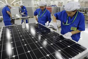 View inside the China Solar factory in Hangzhou.