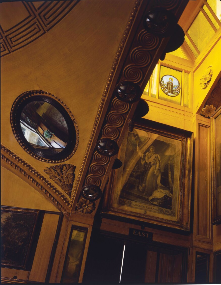 A detail of the shallow dome at the breakfast room at No. 13 Lincoln's Inn Fields, now the Sir John Soane's Museum London.