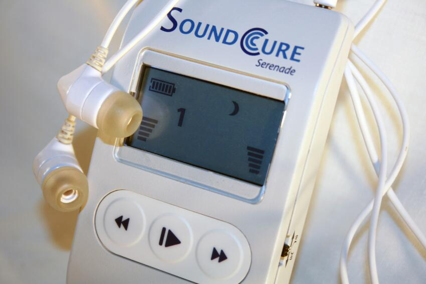 Easier Listening. SoundCure's Serenade therapy system customizes sound to a patient's unique tinnitus.
