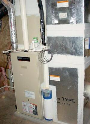 A high-efficiency furnace that's not too big or too small helps regulate indoor humidity levels. (Photo: DOE)