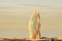A Self-Sustaining Vertical City in the Sahara