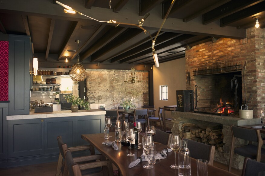 Fish & Game's 19th century brick structure originally housed a blacksmith shop, which Davis and Nemec meticulously restored to preserve its rustic qualities.
