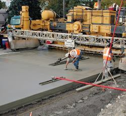 Concrete plays a major role in building the Nation's roadways.