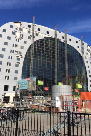 The Markthal, in Rotterdam, is nearing completion.